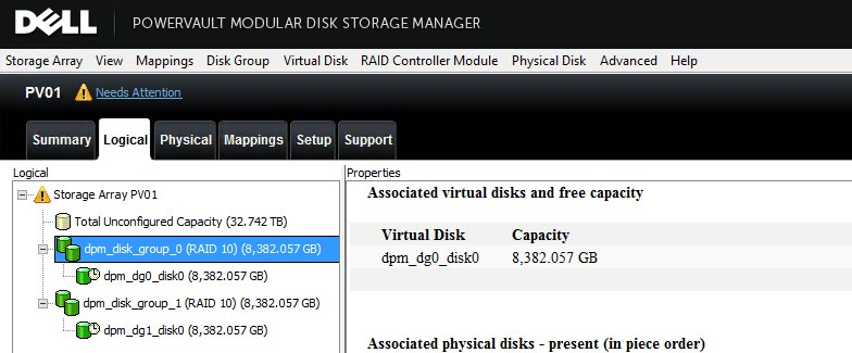 DELL MD Power Vault and Server 2012 MPIO not working