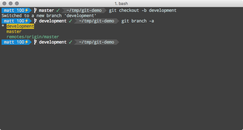 List all branches in repository.