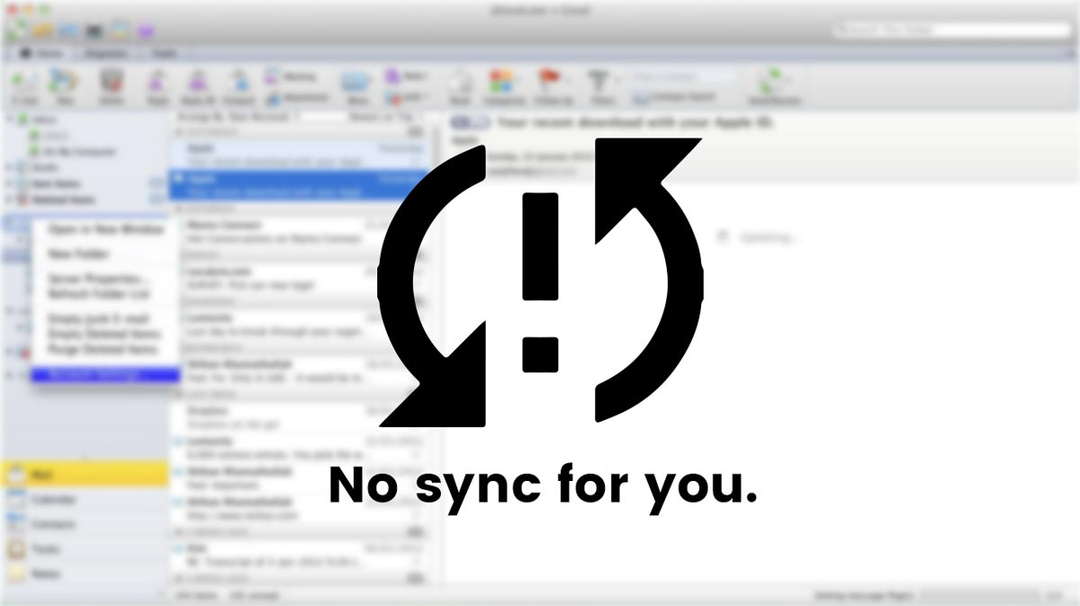 Outlook 2011 for Mac and Exchange Sync Issues
