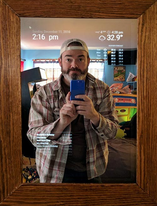 Tom with Smart Mirror