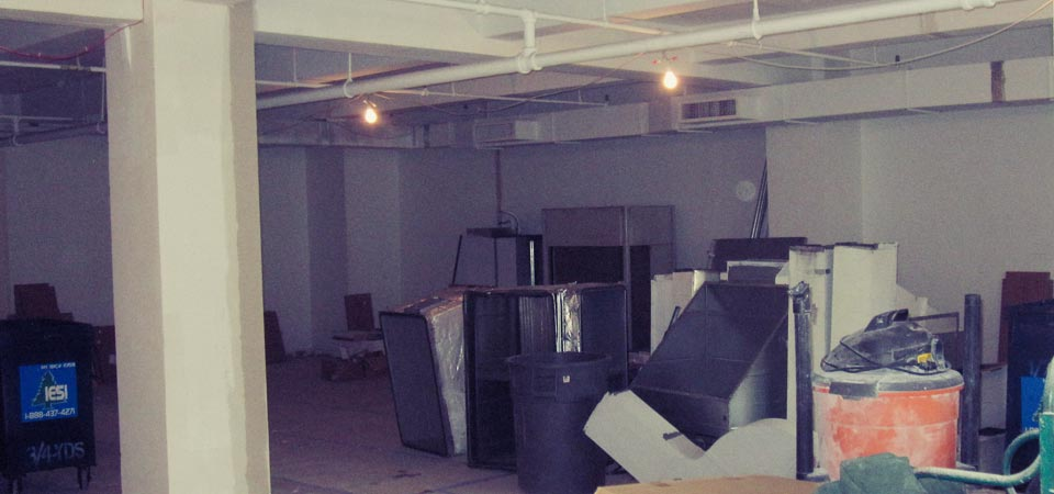 Valiant's new office - raw space