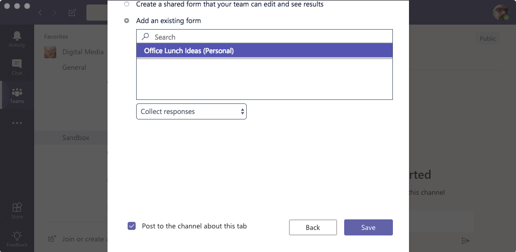 Microsoft Teams - Form List