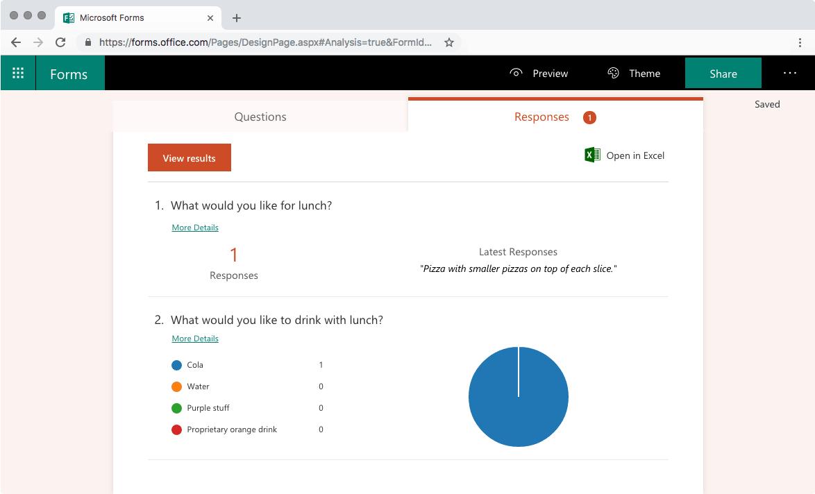Microsoft Forms - Responses