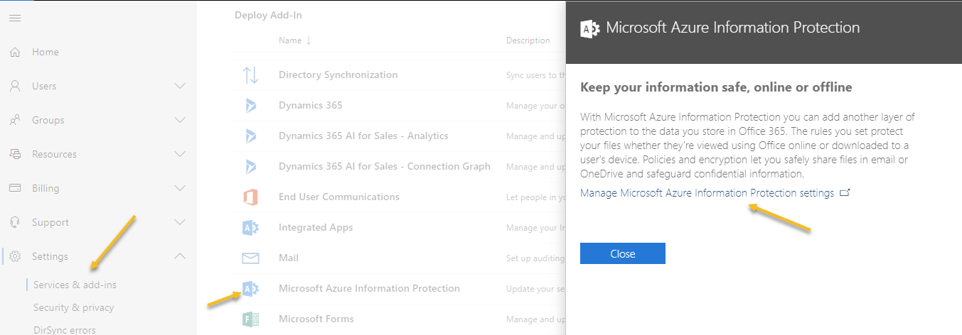 Encrypting email with Office 365 and Azure Information