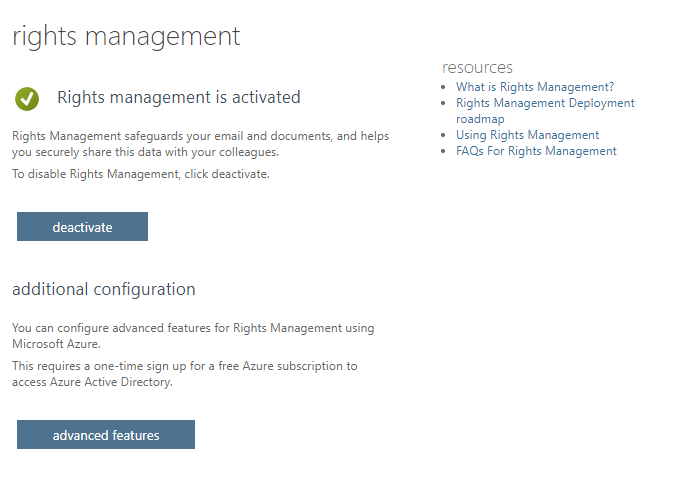 Azure Information Protection Rights Management