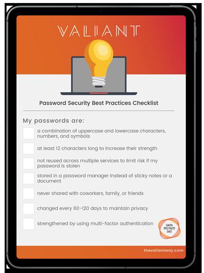 Password Security Best Practices Checklist