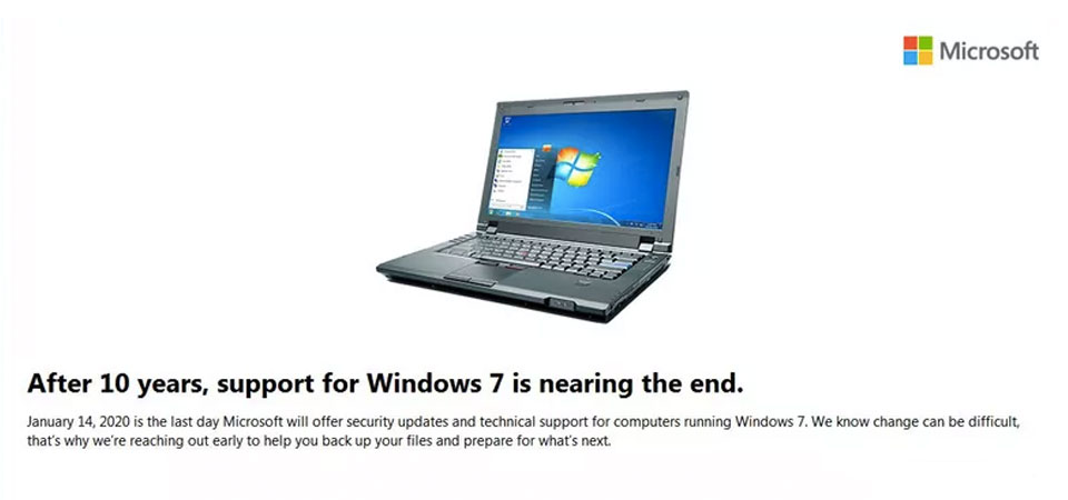 Windows 7 End of Life: Upgrade to Windows 10 Now
